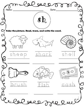 Digraph Worksheets BUNDLE (Sh, Ch, Th, Wh)!
