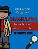 Word Detective Diagraphs CH, SH, WH, TH