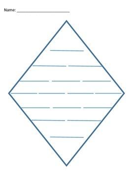 Diamante Poem Format