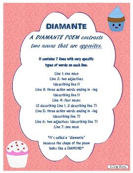 Diamante Poetry Packet