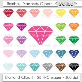 Diamonds Clipart Rainbow Diamonds Clip Art Jewelry Clipart