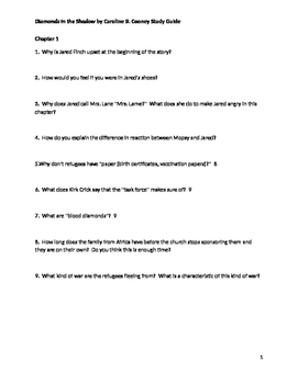 Diamonds in the Shadow Reading Comprehension Questions