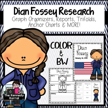 Dian Fossey {Biography Research Trifold, Women's History,