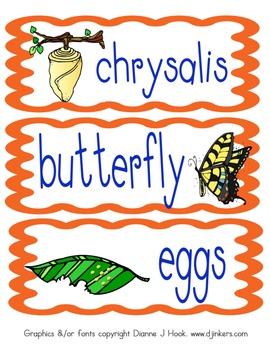Diary of a Butterfly: science, writing, vocabulary, and pr