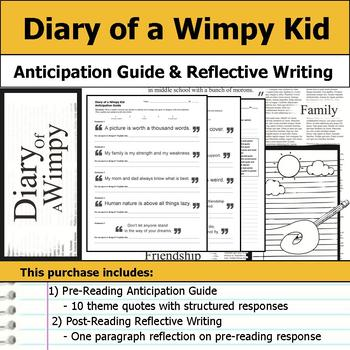 Diary of a Wimpy Kid - Anticipation Guide & Reflection
