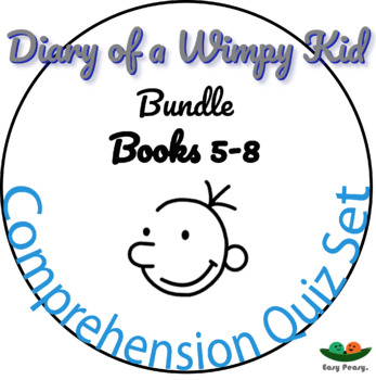 Diary of a Wimpy Kid - Books 5, 6, 7 & 8 - 44 Multiple Cho