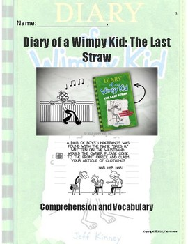 Diary of a Wimpy Kid - The Last Straw - Questions and Vocabulary