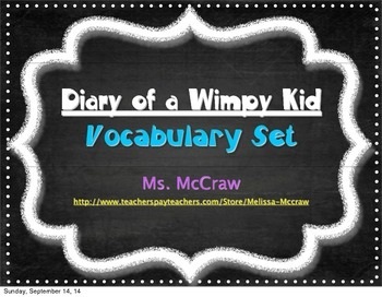 Diary of a Wimpy Kid Vocabulary Set