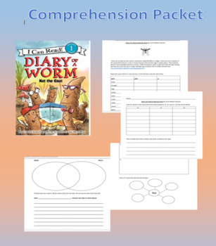 Diary of a Worm Nat the Gnat Comprehension Packet