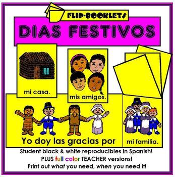 Dias Festivos - Holiday Flip Booklets in Spanish