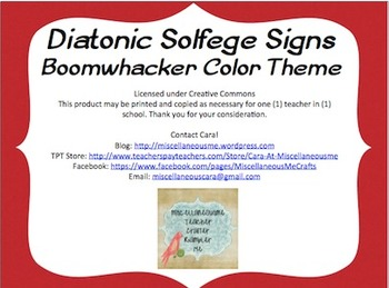 Diatonic Solfege Signs (Tone Colors)