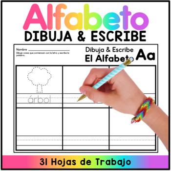 Dibuja y Escribe SPANISH - Write and Draw Spanish A-Z