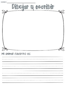 Dibujar y escribir (Draw and write)