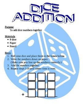 Dice Addition