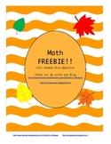 Dice Addition Freebie!!  Fall themed