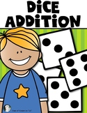 Dice Addition Worksheet *Plus* Partner Dice Addition Game
