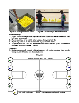 Dice Daze Ball Handling Activity for Physical Education