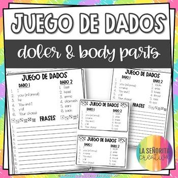 Dice Game (Juego de Dados) - Doler and Body Parts