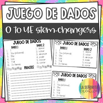 Dice Game (Juego de Dados) - Stem-Changing Verbs in the Pr