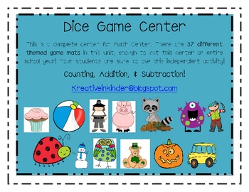 Dice Game Math Center