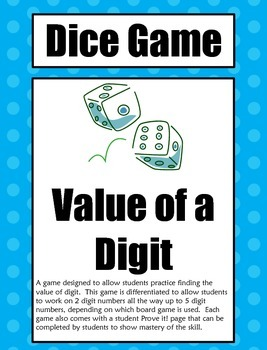 Dice Game: Roll and Write the Value