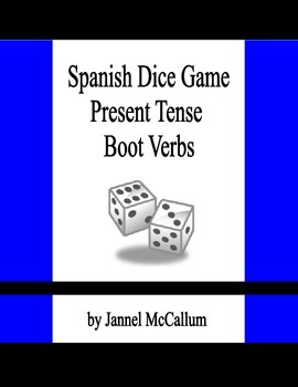 Dice Game - Spanish Stem Changing Verbs in the Present Tense