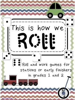 Math and Literacy Stations: Dice Games - This is How We Roll