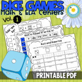 Dice Games for Math and Literacy Centers - Vol. 1