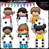 Dice Kids Clip Art - Math Clip Art