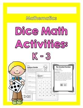 Dice Math Activities {Kindergarten - Grade 3}