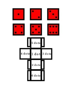 Dice Math Number Recognition Counting Dots Game Arts Craft