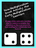 Dice Multiplication Scoot Activity