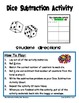 Dice Subtraction Activity