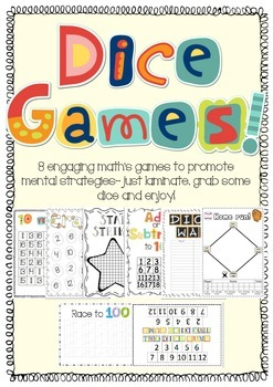 Dice games to promote mental math strategies!
