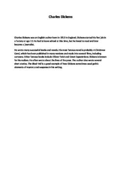 Dickens: The Black Veil for EFL/ESL students