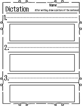 Dictation Form- Write, Then Draw