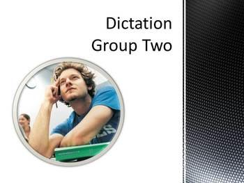 Dictation Sentences Group Two
