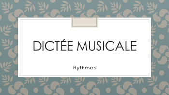 Dictée Musicale