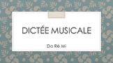 Dictée Musicale Notes 1