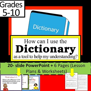 Dictionary Pronunciation FORMAL EVALUATION Lesson Plan, PP