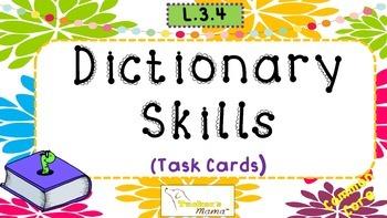 Dictionary Skills Task Cards {L.3.4}
