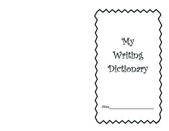 My Writing Dictionary Word Book Personal Word Wall 2nd gra