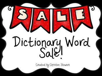 Dictionary Word Sale