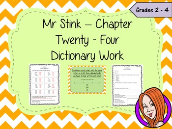 Dictionary Work; Complete Lesson  – Mr Stink