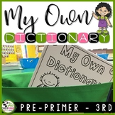 Dictionary for K-2 Sight Word Reading and Writing Resource