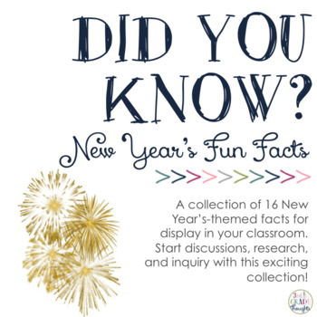 Did You Know? Fun Facts For Your Classroom {New Year}