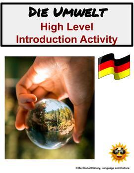Enviroment - Die Umwelt - Introduction Activity for German
