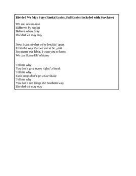 Pre Civil War Causes Song to Backstreet Boys I Want It Tha