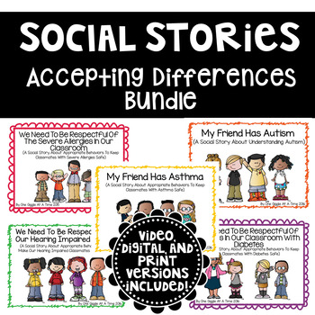 Differences Classroom Social Story Bundle