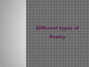 Different Types of Poetry